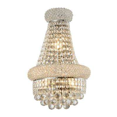Empire 12 in. Chrome Crystal Wall Sconce Light