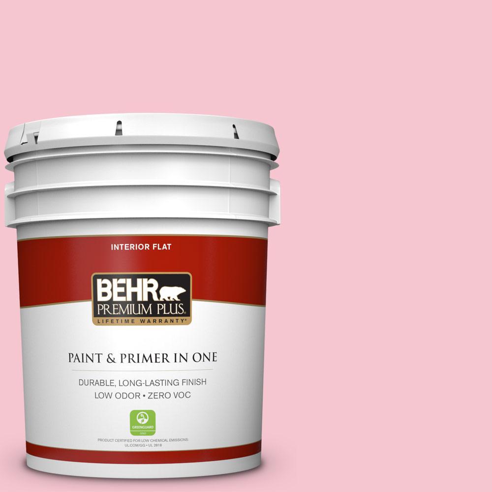 BEHR Premium Plus 5-gal. #120B-4 Old Fashioned Pink Zero VOC Flat Interior Paint