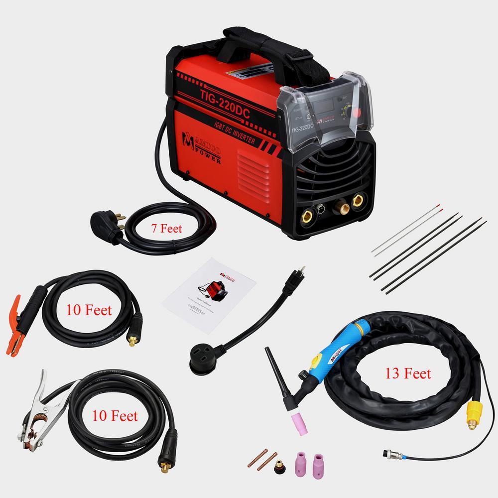 Amico 220 Amp TIG Torch arc Stick DC Inverter Welder 110/230-Volt Dual Voltage Welding Machine New