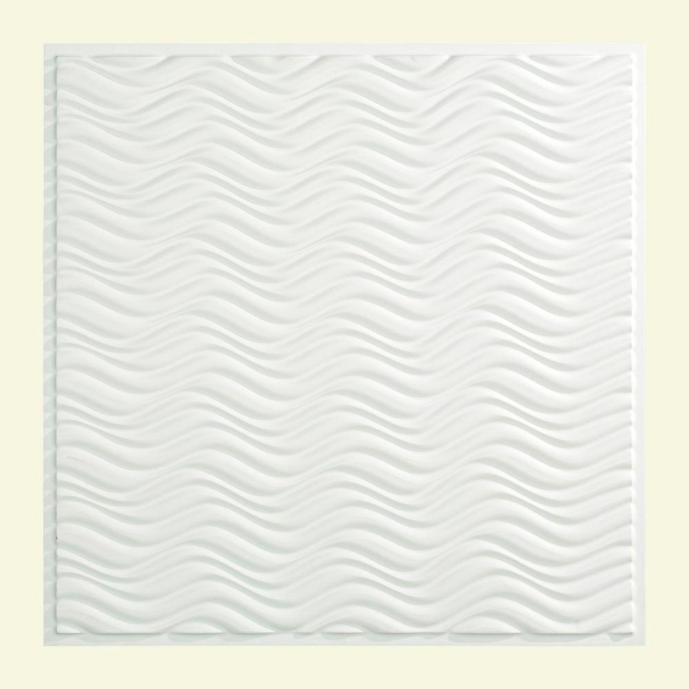 Fasade Current - 2 ft. x 2 ft. Lay-in Ceiling Tile in Gloss White
