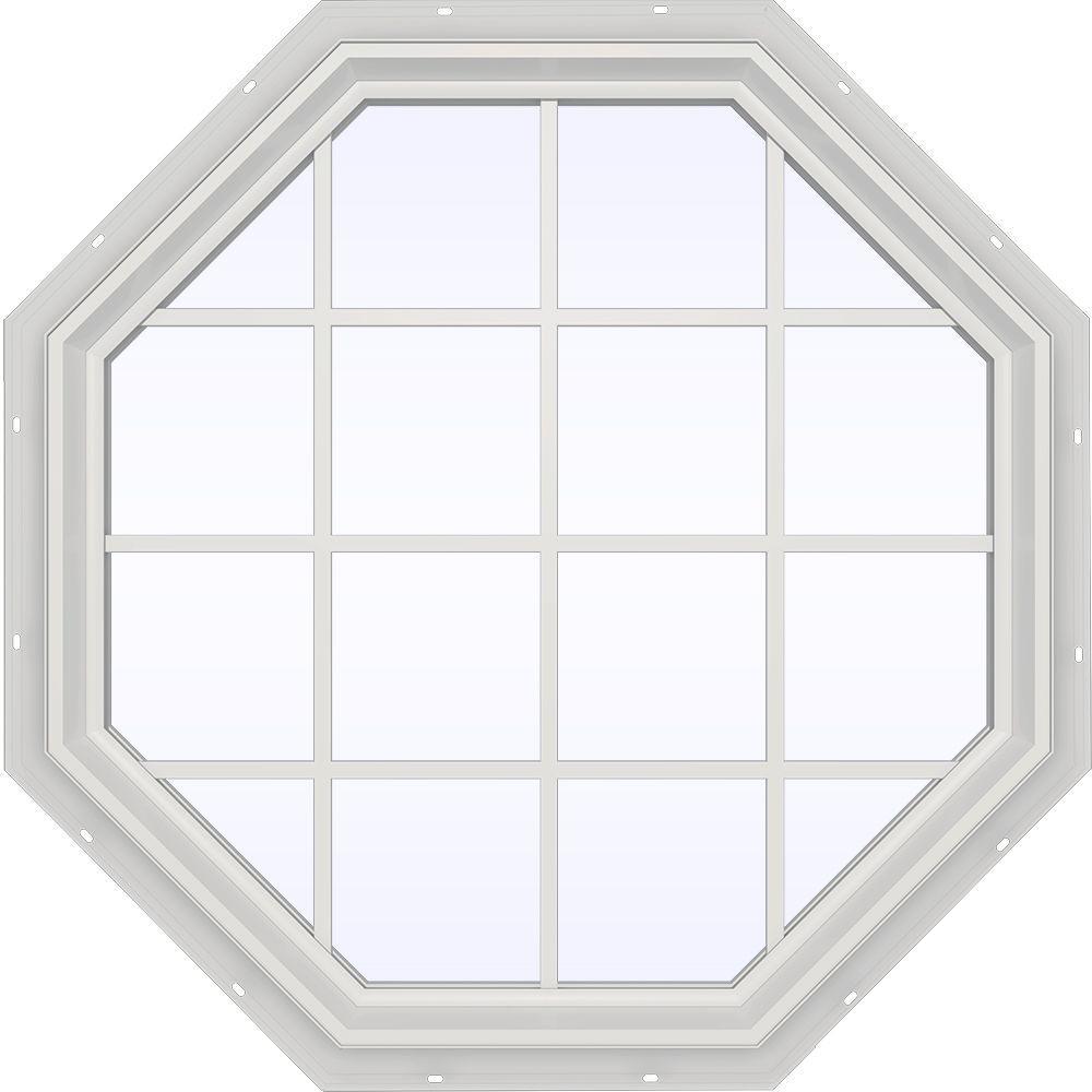 47.5 in. x 47.5 in. V-2500 Series Fixed Octagon Vinyl Window