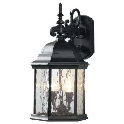 2 light oil rubbed bronze led decorative water glass outdoor lantern