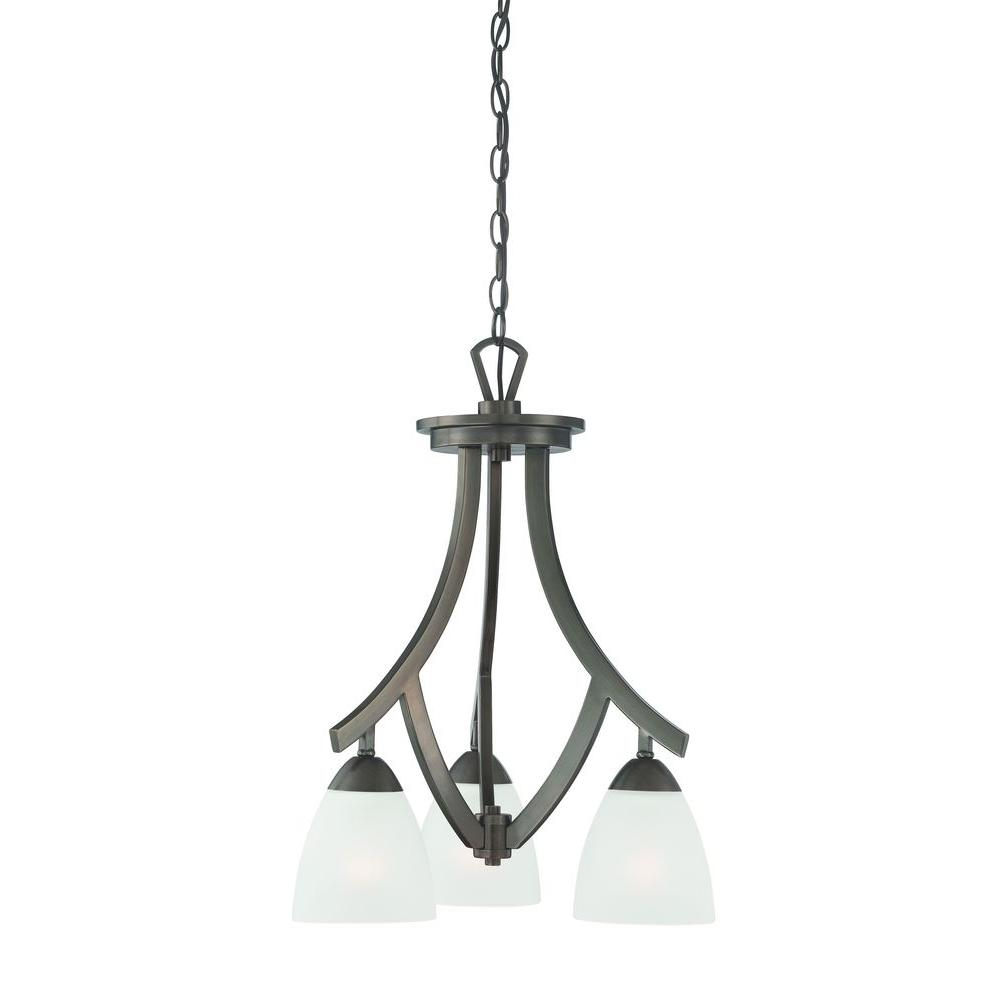 Thomas Lighting Charles 3-Light Oiled Bronze Chandelier-DISCONTINUED