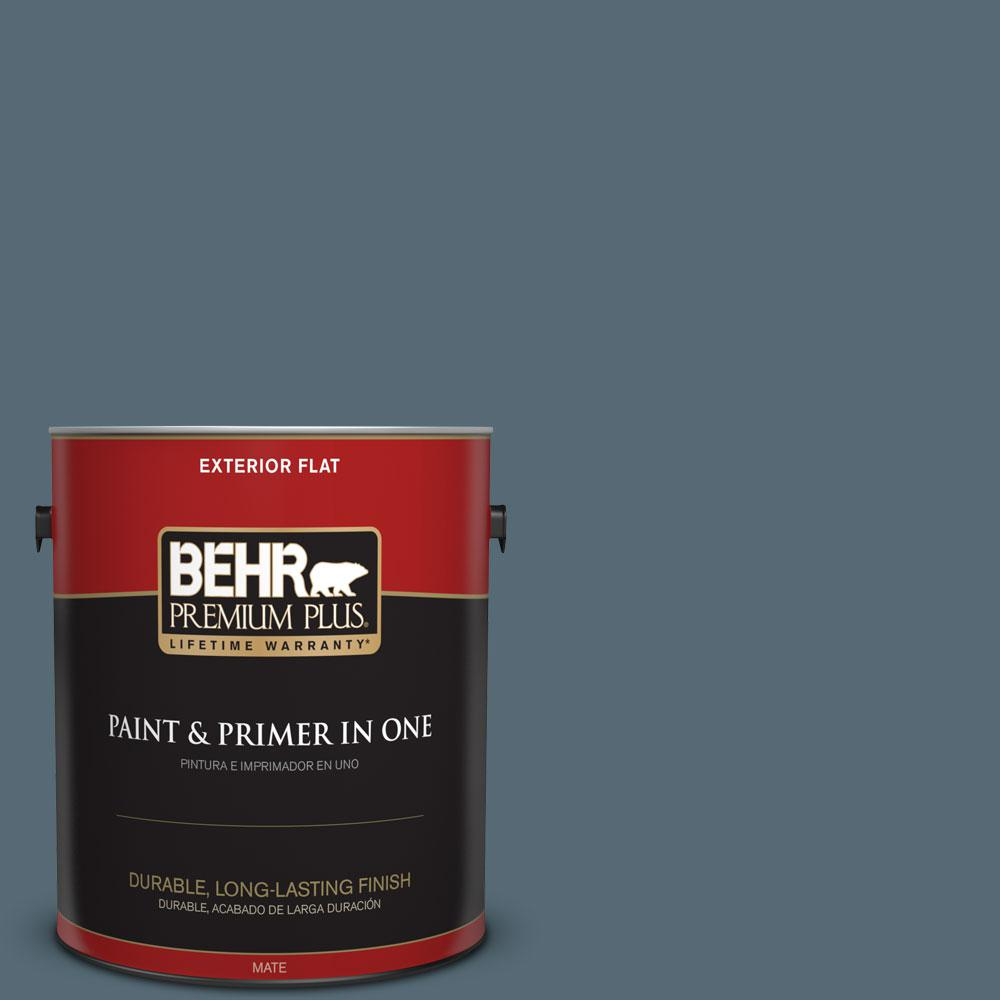 1-gal. #ECC-64-3 Desert Night Flat Exterior Paint