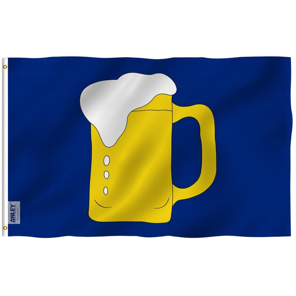 Anley Fly Breeze 3 Ft X 5 Ft Polyester Beer Mug Flag 2