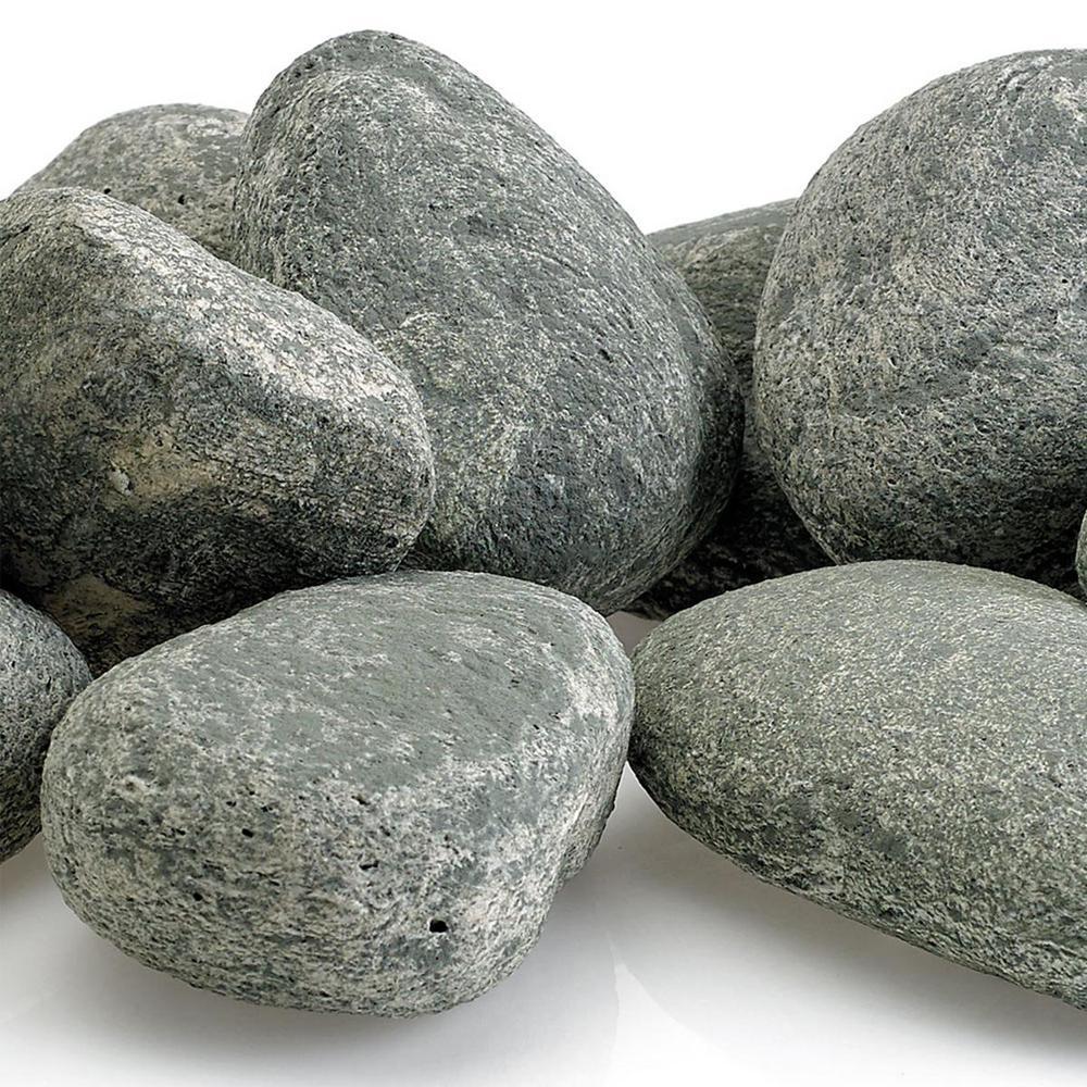 American Fire Glass Cape Gray Lite Stones 15 Stone Set