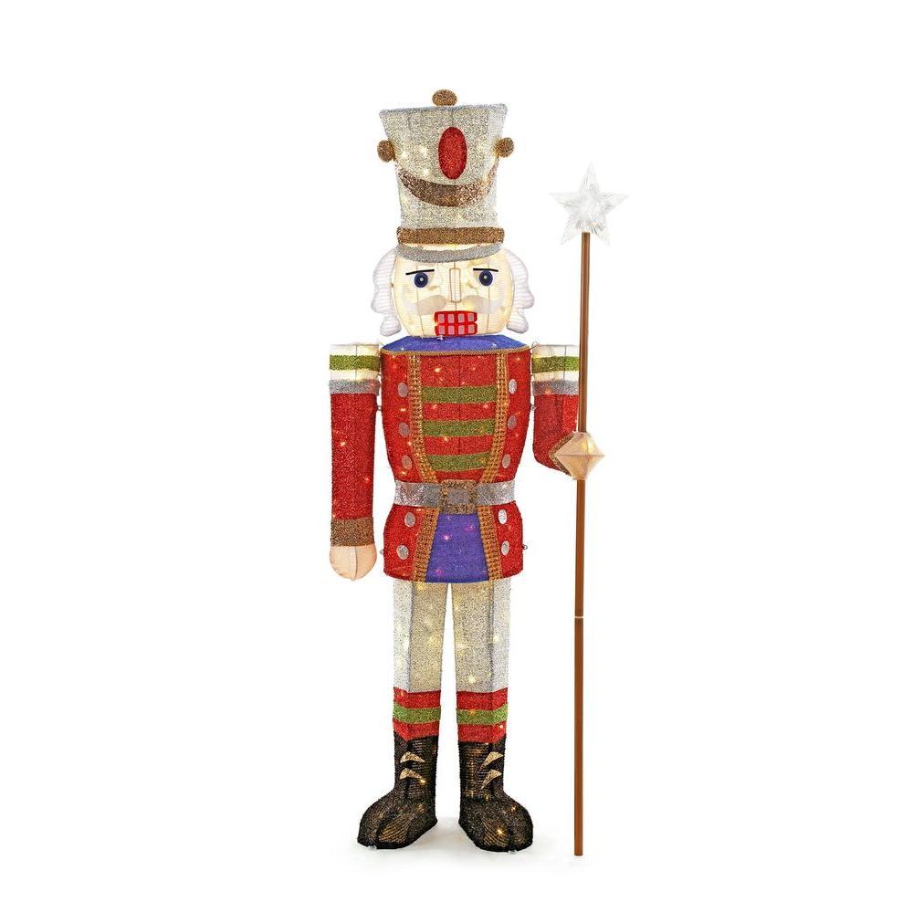 Toasty Tinsel 5 ft. Pre-Lit Tinsel Nutcracker Soldier