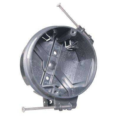 Slater New Work 4 in. Plastic Round Ceiling Box with Captive Mounting Nails and Auto/Clamps