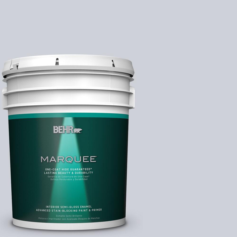 5 gal. #MQ3-61 Moonlit Snow One-Coat Hide Semi-Gloss Enamel Interior Paint