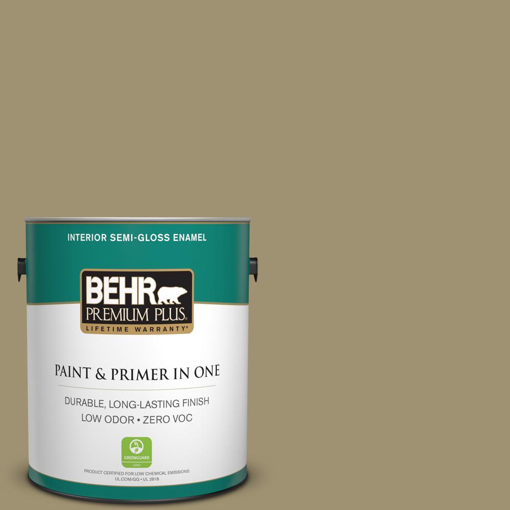 1 gal. #380F-6 River Bank Semi-Gloss Enamel Zero VOC Interior Paint