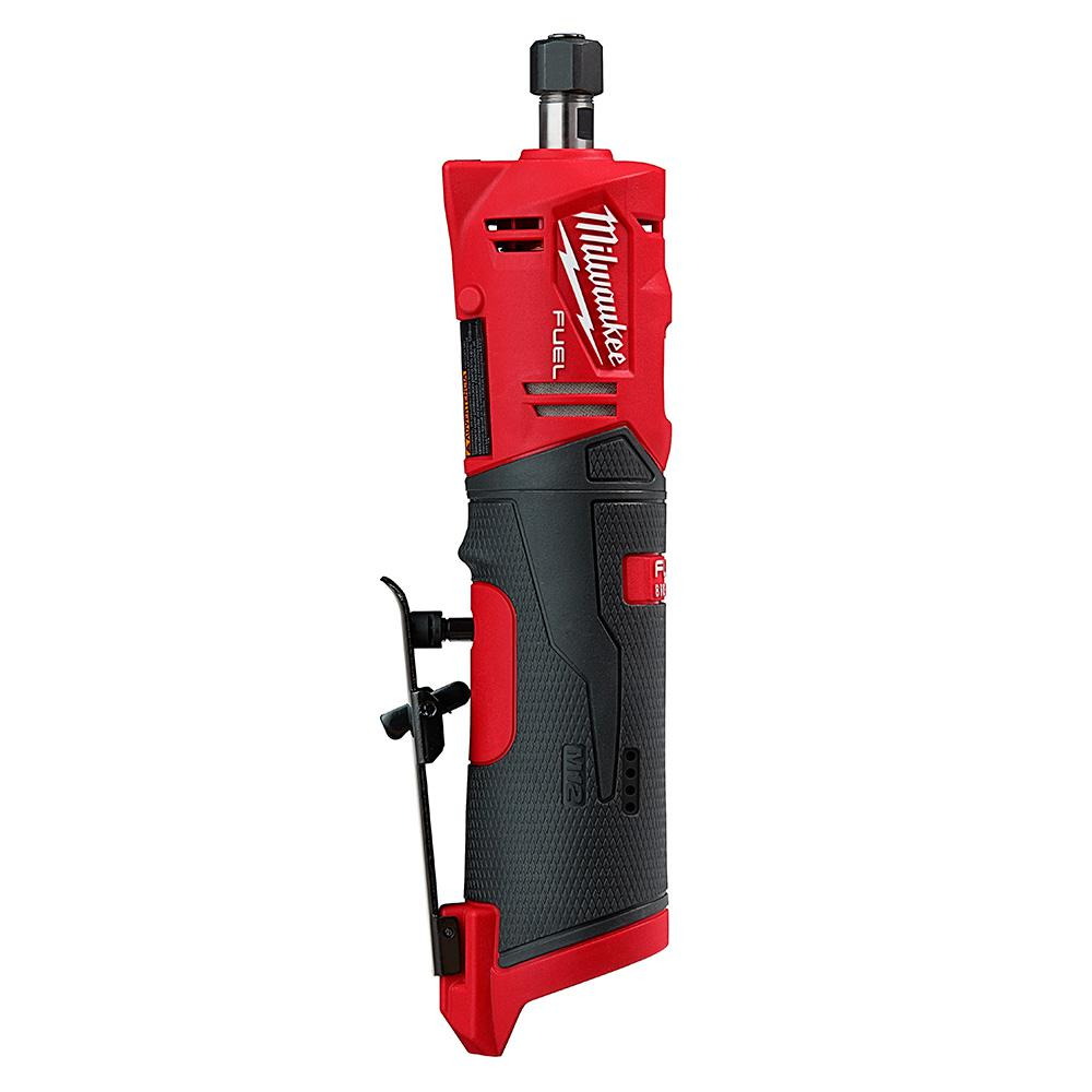 Milwaukee M12 FUEL 12-Volt Lithium-Ion Brushless Cordless 1/4 in. Straight Die Grinder (Tool-Only)