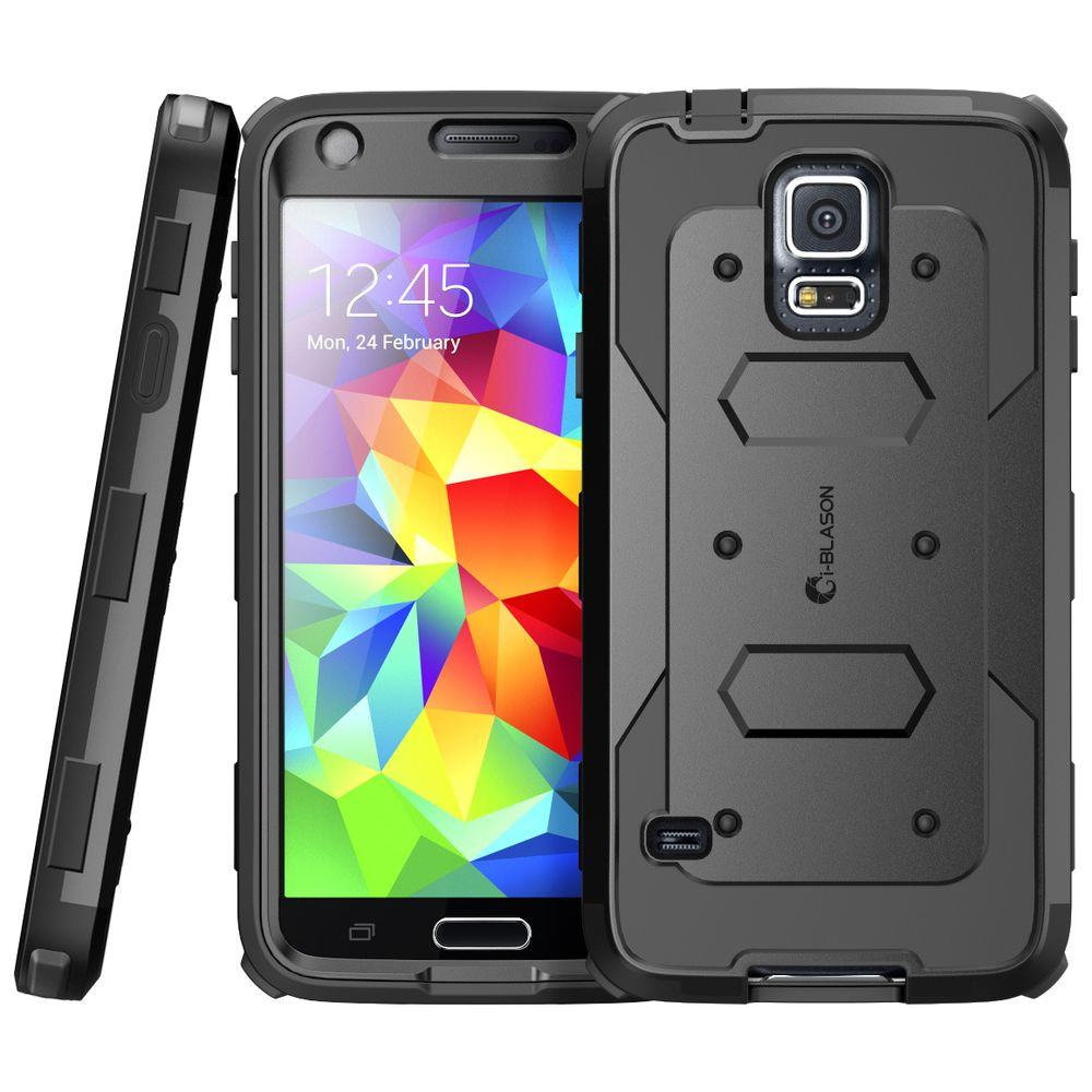 i-Blason Galaxy S5 Armorbox Series Full-Body Case with Screen Protector, Black
