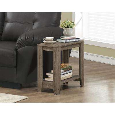 Dark Taupe End Table