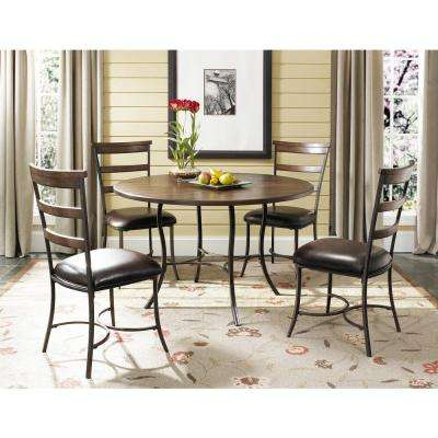 Cameron Dark Grey Metal Ladder Back Dining Chair (Set of 2)