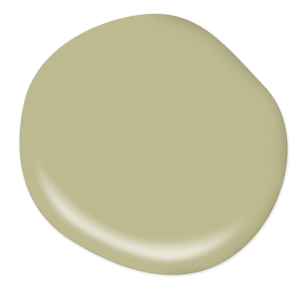 BEHR Back to Nature paint color is Behr's 2020 color of the year - it's a yellowy green with a peaceful vibe.