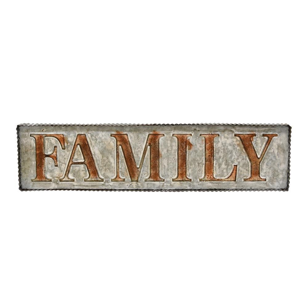 Gray Metal Family Wall