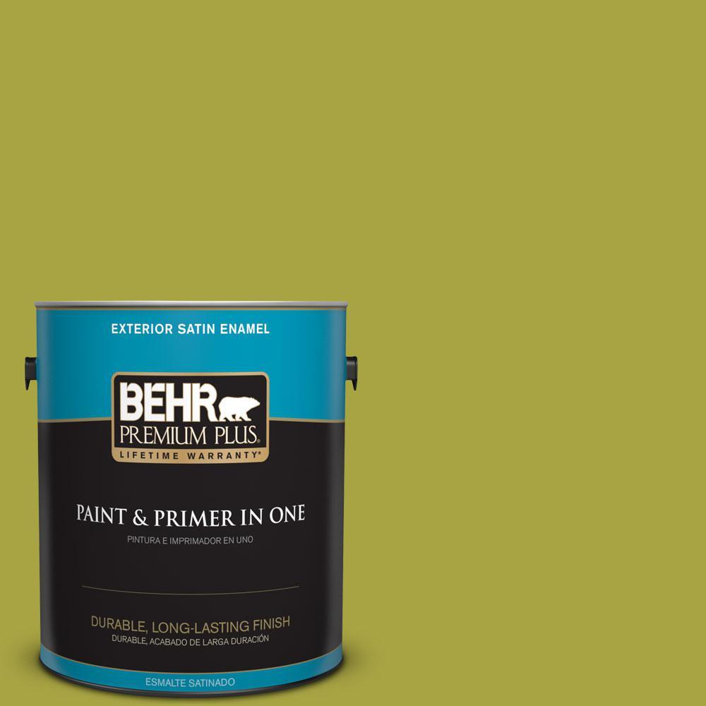 1-gal. #400B-7 Lemon Grass Satin Enamel Exterior Paint