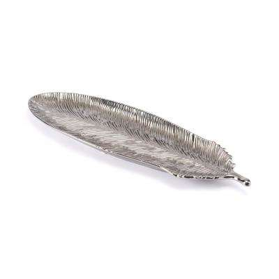 Silver Large Feather