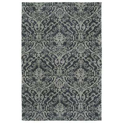 Cozy Toes Charcoal 9 ft. x 12 ft. Area Rug