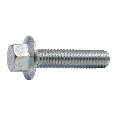 M6-1.0 x 25 mm Zinc-Plated Steel Flange Bolt (2 per Bag)