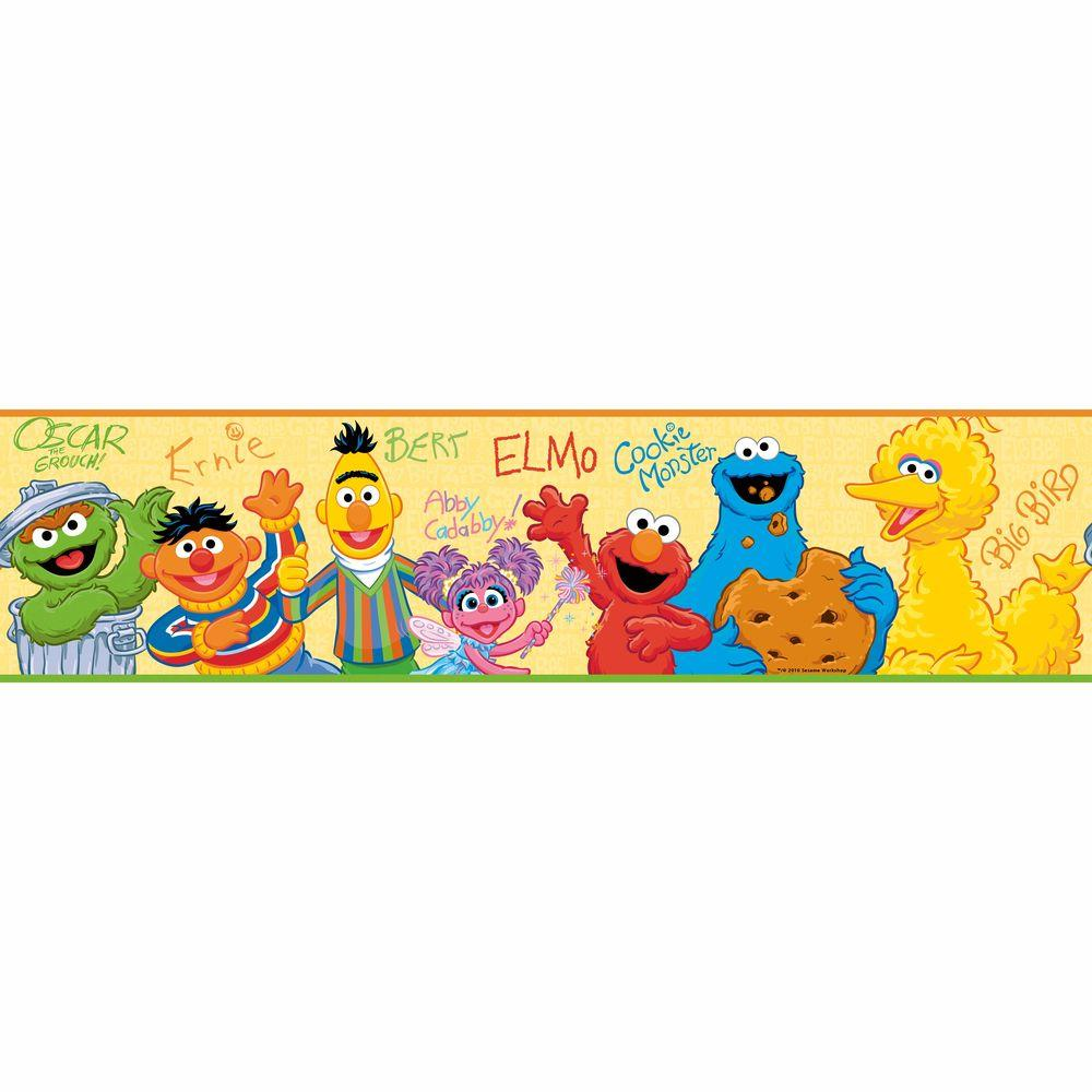 RoomMates Sesame Street Peel and Stick Wallpaper Border-RMK1463BCS ...