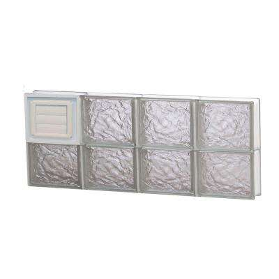 31 in. x 11.5 in. x 3.125 in. Frameless Ice Pattern Glass Block Window with Dryer Vent