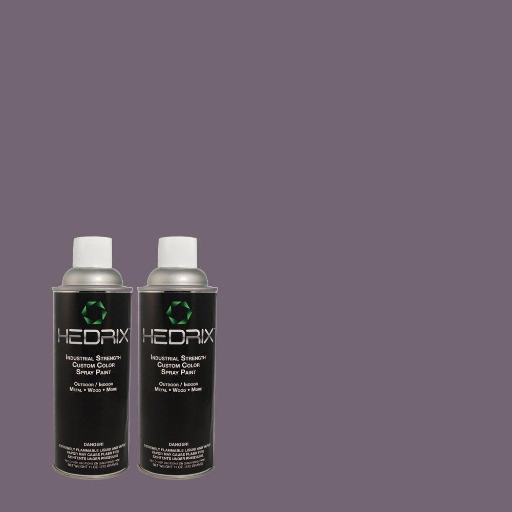 Hedrix 11 oz. Match of PMD-44 Twilight Dusk Flat Custom Spray Paint (2-Pack)