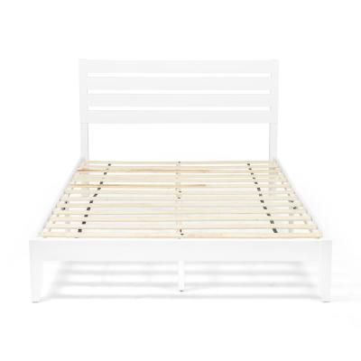 Guilford  White Wood Queen Bed Frame