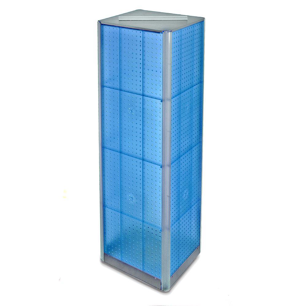Azar Displays 60 in. H x 16 in. W Pegboard Tower in Blue Styrene