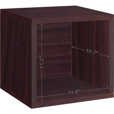 13 in. H x 13 in. W x 11 in. D Espresso Recycled Materials 1-Cube Storage Organizer
