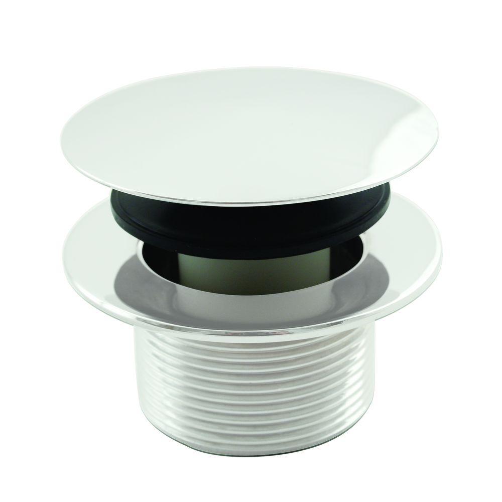1-1/2 in. NPSM Round Mushroom Coarse Thread Drain in Powder Coat White