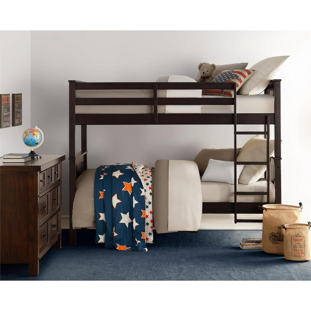 Espresso Brown Twin Bunk Bed Dylan
