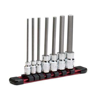 SAE Long Hex Bit Socket Set (7-Piece)