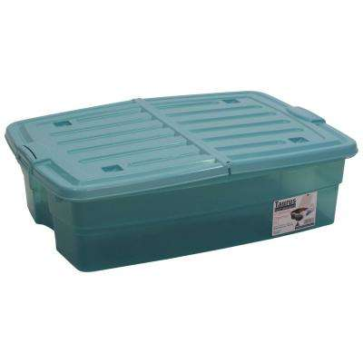 10 Gal. Underbed Storage Organizer Tote in Teal