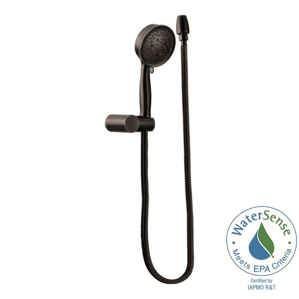 MOEN 4-Spray Eco-Performance Handheld Handshower with Wall Bracket in Oil Rubbed Bronze