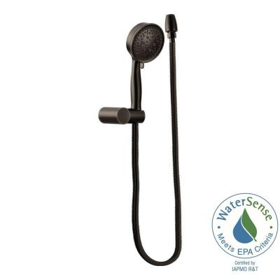 Eco-Performance 4-Spray 4.4 in. Single Wall Mount Handheld Shower Head in Oil Rubbed Bronze