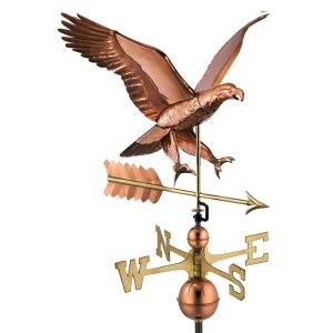Good Directions Attack Eagle with Arrow Weathervane-Pure Copper by