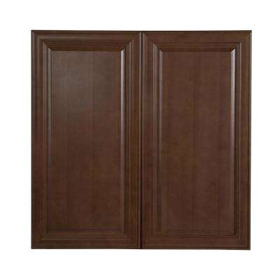 Benton Assembled 36x36x12 in. Wall Cabinet in Butterscotch