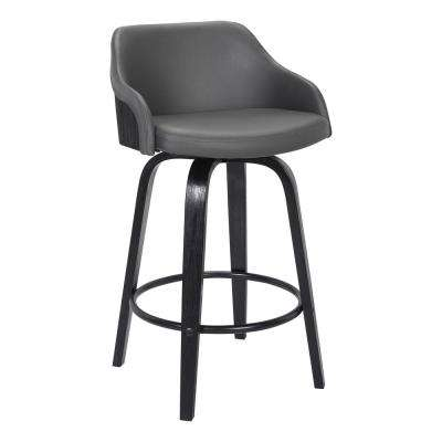 Alec 39 in. Grey Barstool
