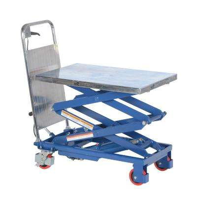 220 lb. 15.75 in. x 27 in. Hydraulic Double Scissor Cart