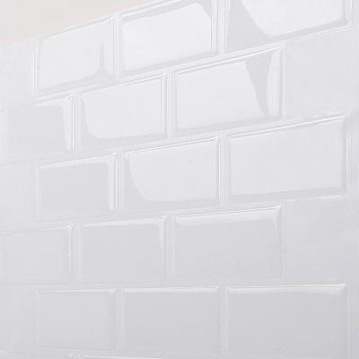 Subway White 12 in. W x 12 in. H Peel and Stick Self-Adhesive Decorative Mosaic Wall Tile Backsplash (10 Tiles)