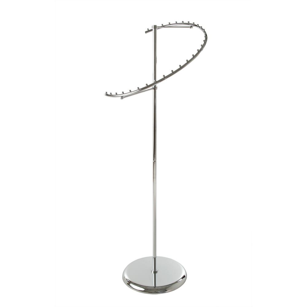 Econoco 18 in. W x 67 in. H Chrome Spiral Garment Rack with 29-Ball Stops