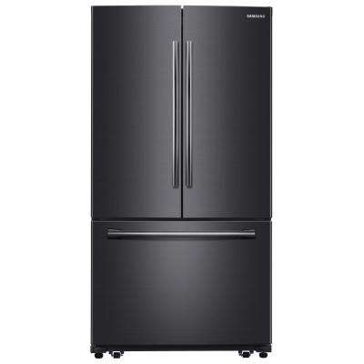 25.5 cu. ft. French Door Refrigerator with Internal Water Dispenser in Black Stainless Steel