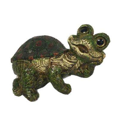 11.25 in. W Large Lying Whimsical Turtle Home and Garden Statue
