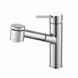 Oletto Single Handle Pull Out Kitchen Faucet With Dual Function Sprayer In  Chrome