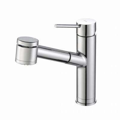 Oletto Single-Handle Pull-Out Kitchen Faucet with Dual-Function Sprayer in Chrome