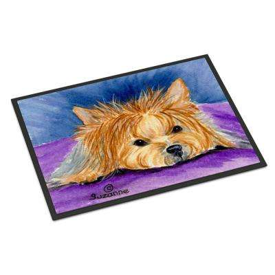 18 in. x 27 in. Indoor/Outdoor Yorkie Indoor Outdoor Mat