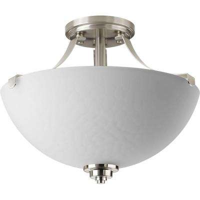 Legend Collection 2-Light Brushed Nickel Semi-Flush Mount
