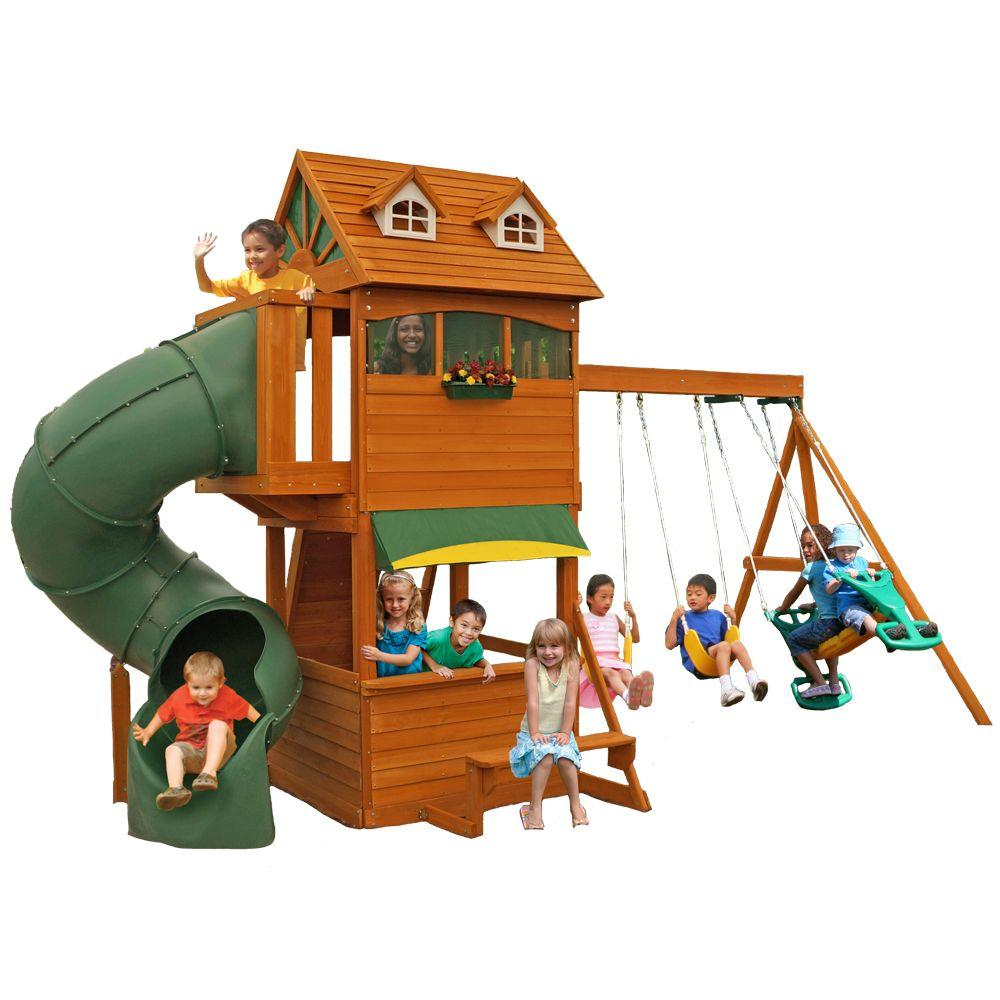 Kidkraft forest hill retreat playset f23180 the home depot publicscrutiny Image collections