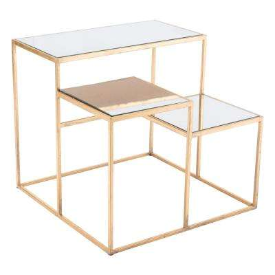 Labels Gold End Table